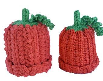 Crochet newborn pumpkin hat, halloween hat, baby pumpkin hat, crochet pumpkin hat, crochet pumpkin, crochet newborn hat, newborn photo prop
