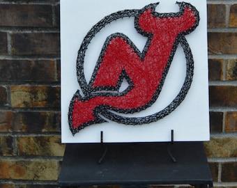 New Jersey Devils String Art
