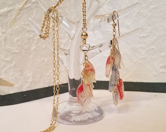 14GF Fish Stringer Necklace and Earrings