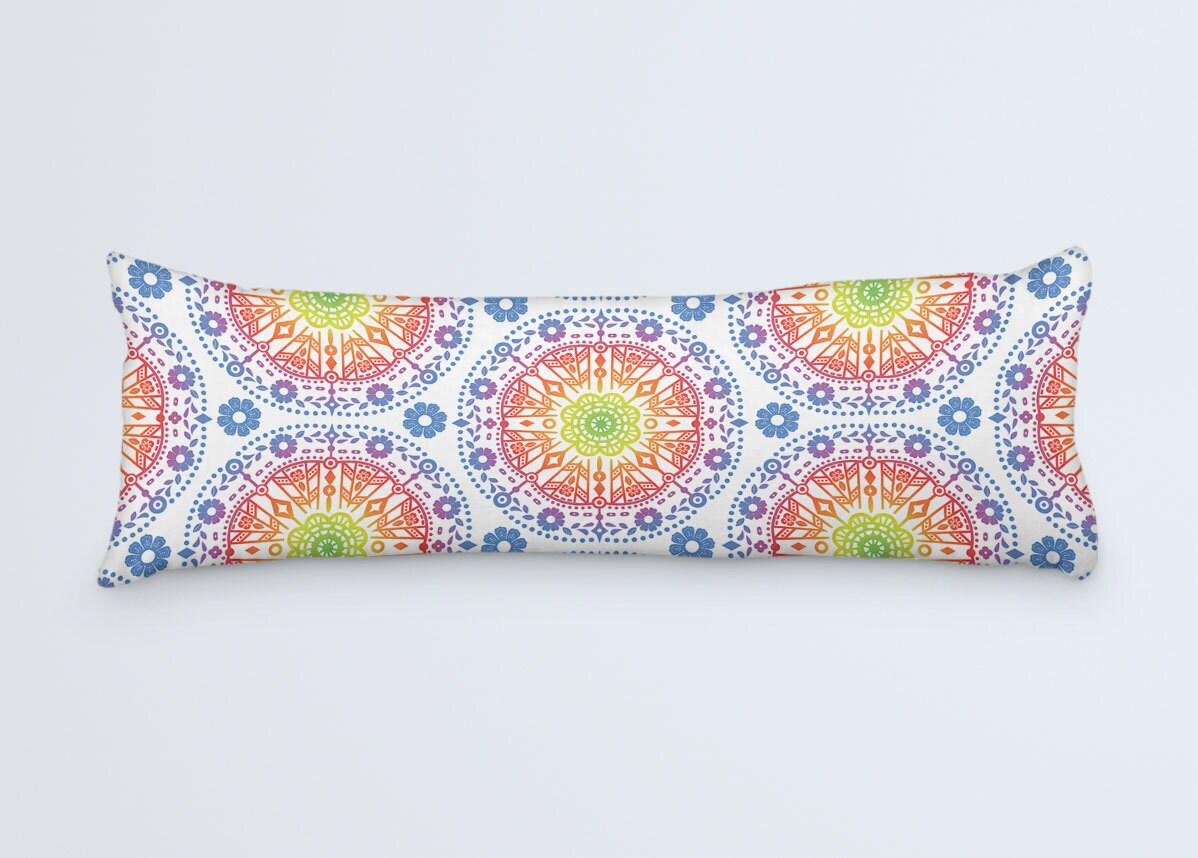 Boho Body Pillow Colorful Large Pillow Body Pillow Cover
