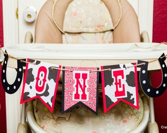 Cowboy Party, High chair Banner, 1st birthday banner, Cowboy birthday banner, Smash Cake Banner, First Birthday Photo Prop, Western party