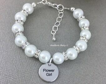 Flower Girl Bracelet Pearl Bracelet Girl Jrewelry Junior Bridesmaid Bracelet Flower Girl Gift Junior Bridesmaid Gift Wedding Jewerly