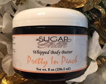 Pretty In Peach Whipped Body Butter / Double Whipped / Extra Creamy / Pure Shea Butter / Body Lotion / Handmade FREE SHIPPING (US)
