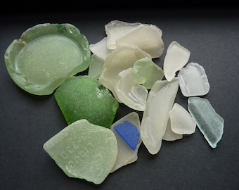 Very Old Sea Glass Genuine Sea Glass Beach Glass