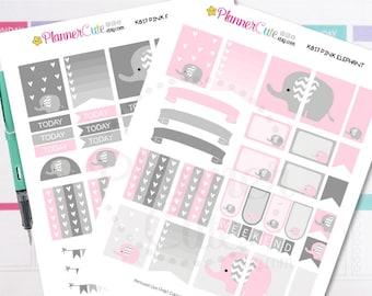 Elephant Planner Stickers,  Kawaii Printable Planner Stickers, Cute Printable Stickers for your planner, Erin Condren K017