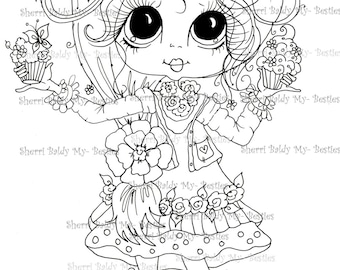 INSTANT DOWNLOAD Digital Digi Stamps Big Eye Big Head Dolls Bestie New Bestie Img302 My Besties By Sherri Baldy