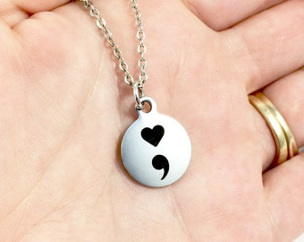 Encouragement Necklace, Motivational Necklace, Encouragement Jewelry, Inspirational Jewelry, Encouragement Gift, Mental Health Awareness