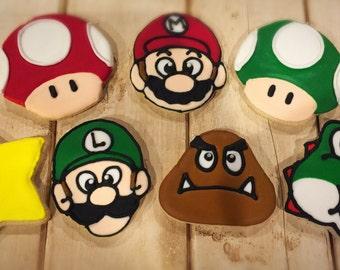 Mario Themed Sugar Cookies - 1 dozen