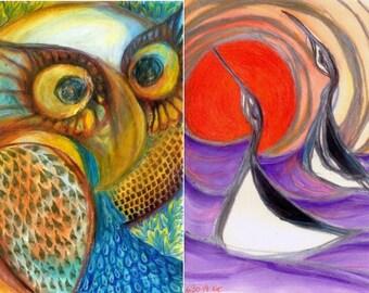 Four card set #4: birds