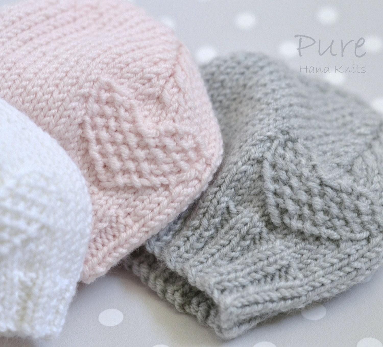 Preemie, Newborn, Baby, Toddler baby hat EASY knitting pattern from ...