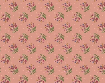 Marcus Nancy Rink On Plumberry Lane Pink Floral Fabric 2275-0175 BTY