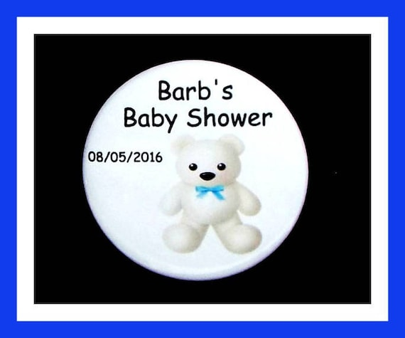 Baby Shower Boy Bear Favors,Personalized Buttons Pins,Favor Tags,Its a Boy,Party Favors,Birthday Party Favors,Personalized Favors,Set of 10