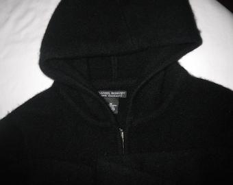 100% Black Cashmere Hoodie