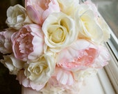 Elegant ivory and pink si...