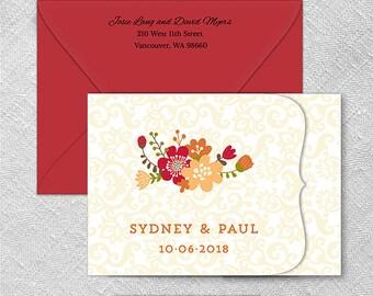 Hawthorne All Inclusive Wedding Invitation Sample