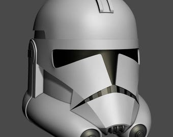 Animated Series Style Clone Helmet Phase 2 3d printable model