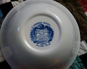 Liberty Blue Staffordshire Ironstone Serving Bowl