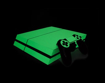 PS4 PlayStation 4 Photoluminescent Vinyl Wrap: Extreme Glow in the Dark