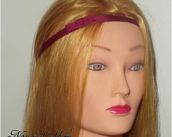 Burgundy headband, bow,