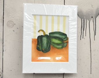 """Peppers Giclee Print 11x14"""" 100% of the profits go directly to artists with disabilities Item 209 Cynthia M."""