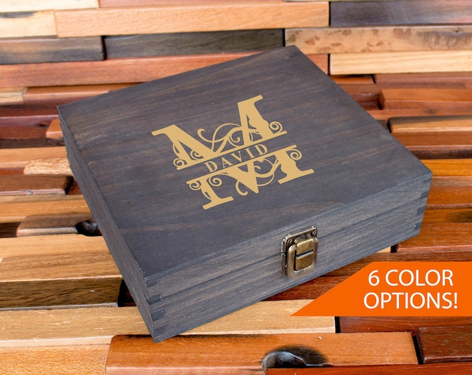 Cigar Box, Groomsmen Box, Best Man Gift Box, Personalized Wedding Gift Box, Groomsmen Cigar Box, Men's Box, Man Gift, Father's Day Gift