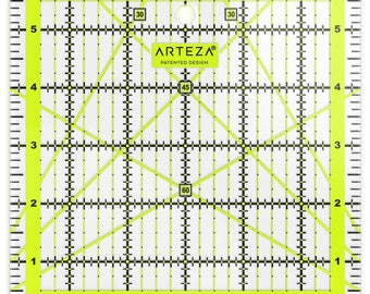 Arteza Acrylic Quilters Ruler 6x6