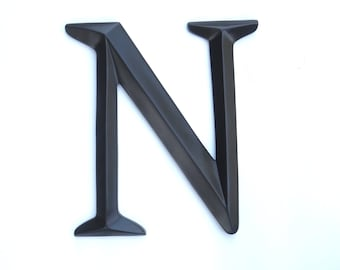 "Letter ""N"" Sign - Large Letter N Wall Decor - Gallery Wall Decor - Photo Prop - Anniversary Gift SIN70"