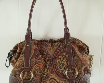 Vintage Tapestry Handbag/Mini Carpet Bag