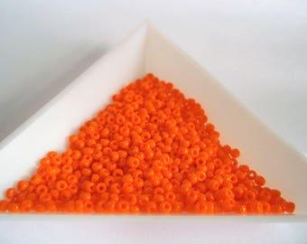 22 grams Miyuki seed beads 11 0 seed beads orange seed beads opaque seed beads miyuki 9406L opaque lite orange size 11 beads orange beads