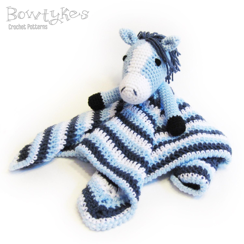 Horse Lovey CROCHET PATTERN instant download blankey