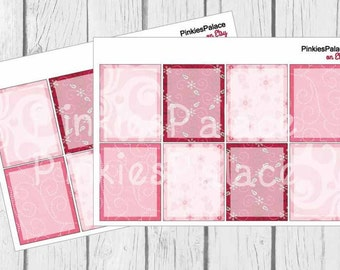 Planner Stickers Full Box Shaded Vertical Horizontal Planner Stickers set of 8 stickers PS64b Fits Erin Condren Planners