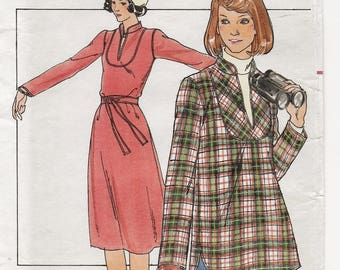 "A Shaped Band Collar, Long Sleeve Tubular Dress and Top Sewing Pattern for Women: Uncut - Sizes 6 & 8, Bust 30-1/2""-31-1/2"" • Butterick 5030"
