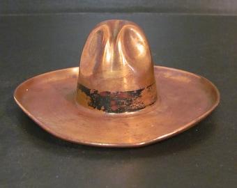 Cool Brass Cowboy Hat Tray