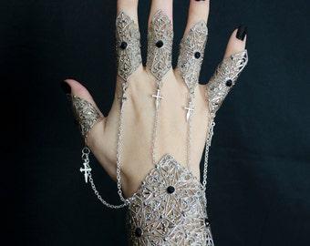 Gothic vampire arm cuff bracer - elven armor