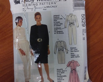 vintage, MCCALLS, 5529, Busy Womans, sewing pattern, size 10, sewing, pattern, dress, jumper