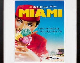 Travel Art Florida Print Poster Miami Vintage Home Decor (XR91)