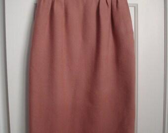 vintage HERMES dusty rose skirt size XS