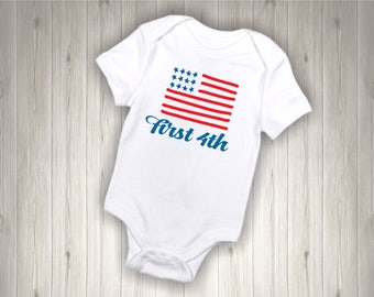 Babys First Fourth Of July Onesie