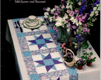 Quilt in a Day Book - A Star for All Seasons - Table Runner and Placemats - Wendy Gilbert - Eleanor Burns