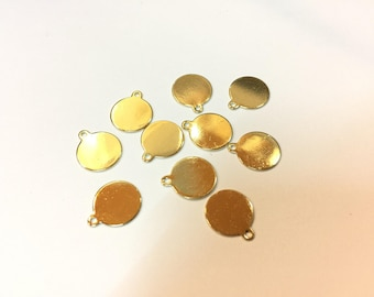 20 charms drops 10mm Golden jewellery designs