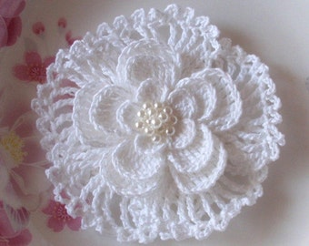 Larger Crochet Flower In 3.5 inches YH-024-03