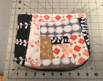 Modern Quilted Zippered Bag