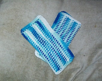 Cotton Crocheted Dishcloths--Set of 2