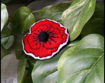 Large poppy brooch