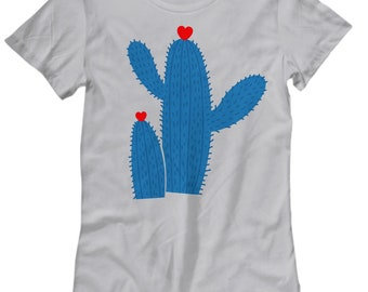 Cactus Hug Woman's T-Shirt - Fun Gift
