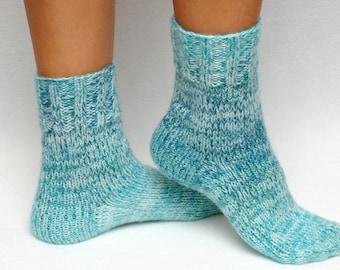 Hand Knit socks mom gift for wife gift womens socks Christmas gift for mother knitted socks warm winter socks wool socks thanksgiving gift