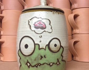 Green monster jar with aspirations of donuthood