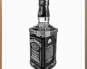 Jack Daniels Poster • Whiskey Print Jack Daniels Decor Whiskey Art Alcohol Poster Jack Daniels Party Old Fashioned Print Bar Wall Art Decor