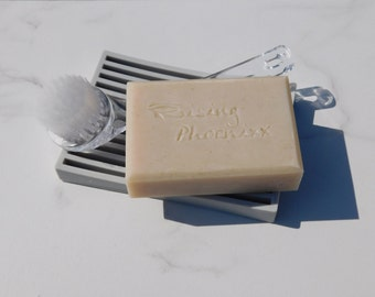 Rhassoul Clay / Face Soap / Lemon Essential Oil / Refreshing / Energizing / Skin Brightening/ Cold Process Facial Soap