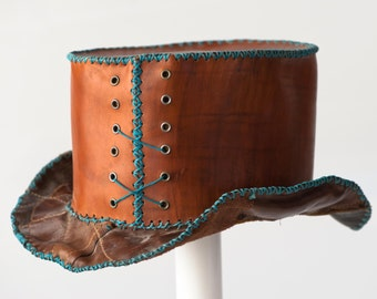 Custom Leather Top Hat